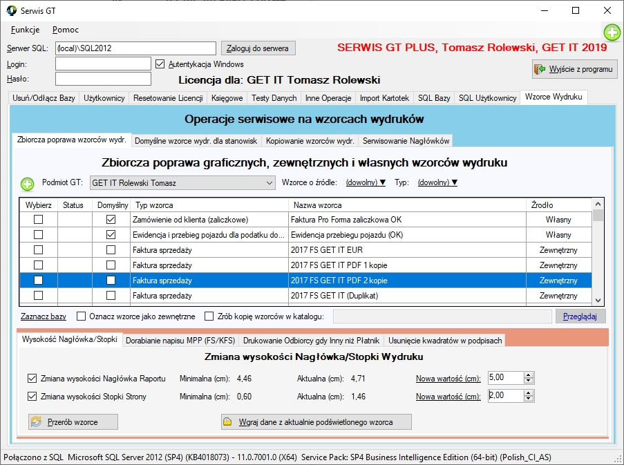 SerwisGT Wzorce Wydrukow Naglowki
