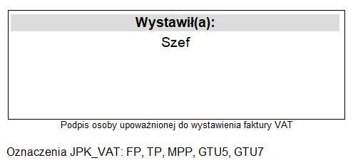 Kod GTU dla Faktury